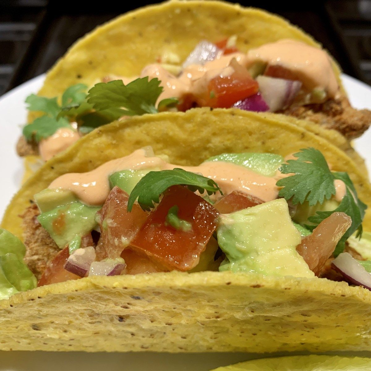 Get Your Healthy On with These Spicy Air Fryer Fish Tacos