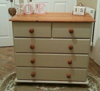 Part Painted Pine Chest Of Drawers   Google Search
