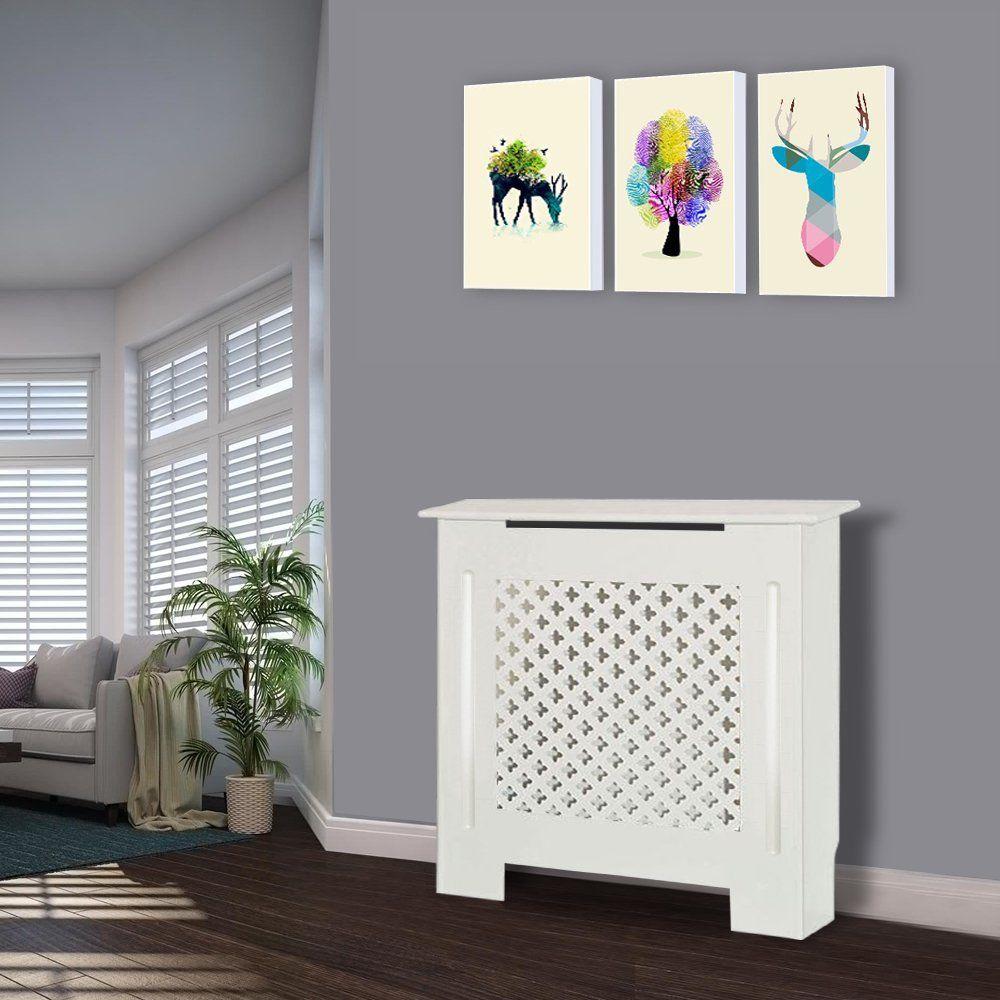 Greenbay traditional radiator cover mdf white