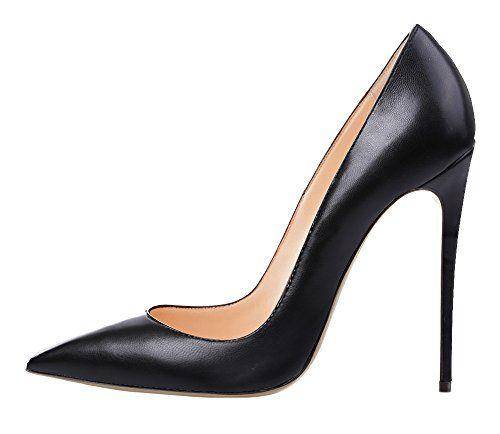 patent black stilettos