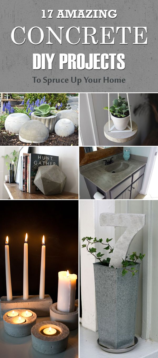 Living Room Decor Trends 2018: 17 Amazing Concrete DIY Projects To Spruce Up Your Home
