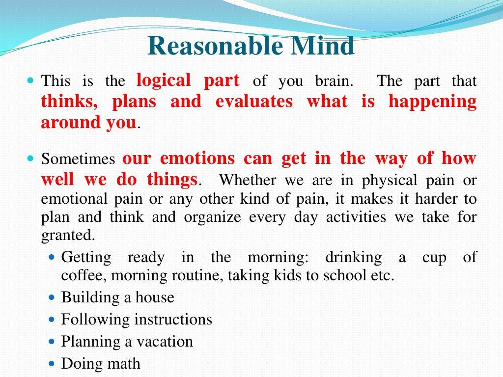 Dbt Mindfulness Reasonable Mind