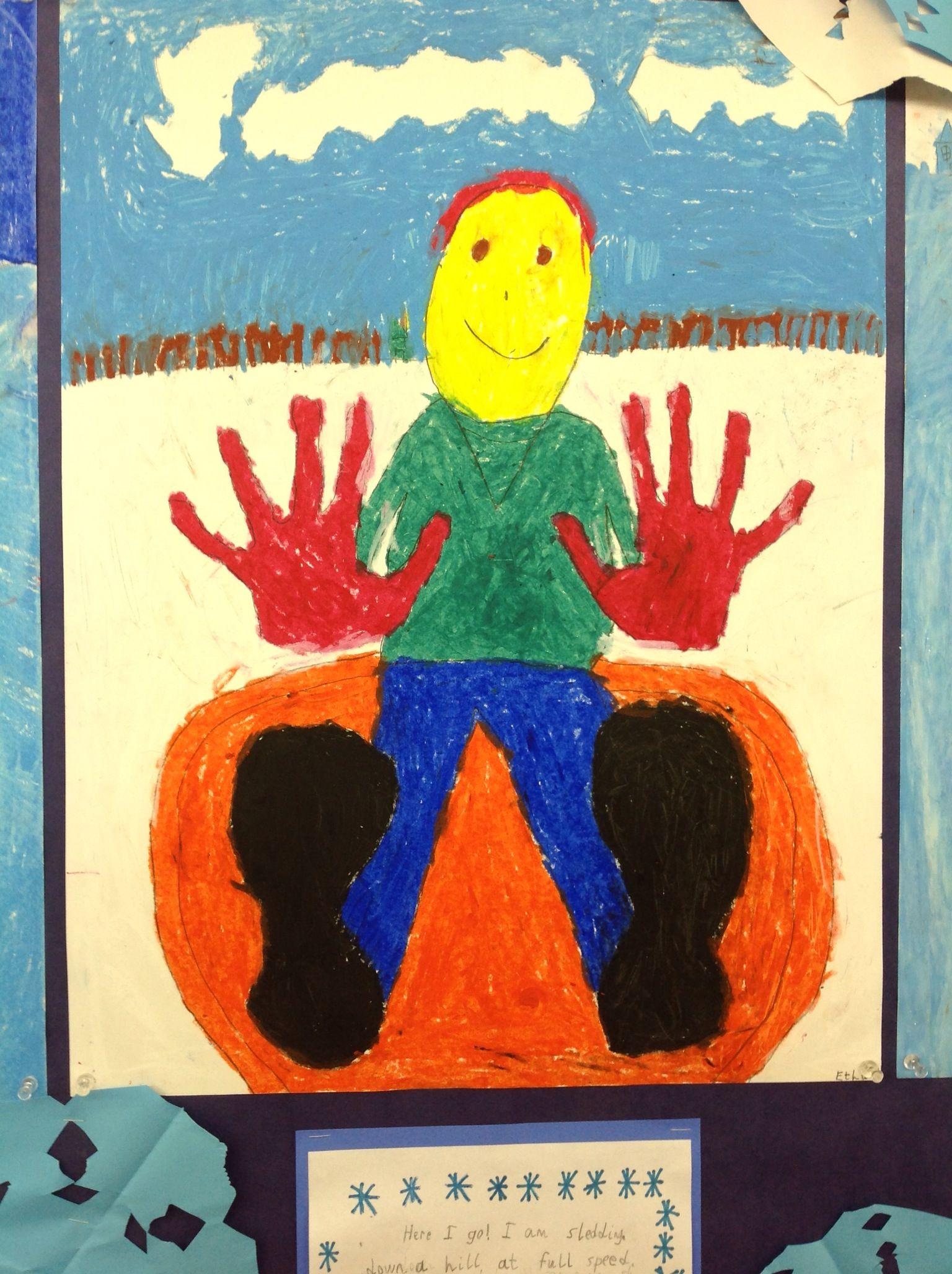 Third Grade Artist Water Based Oil Pastel Drawing