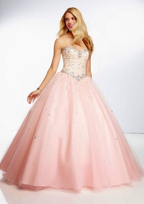 d31bf818a8 Excelentes vestidos de 15 años estilo princesa