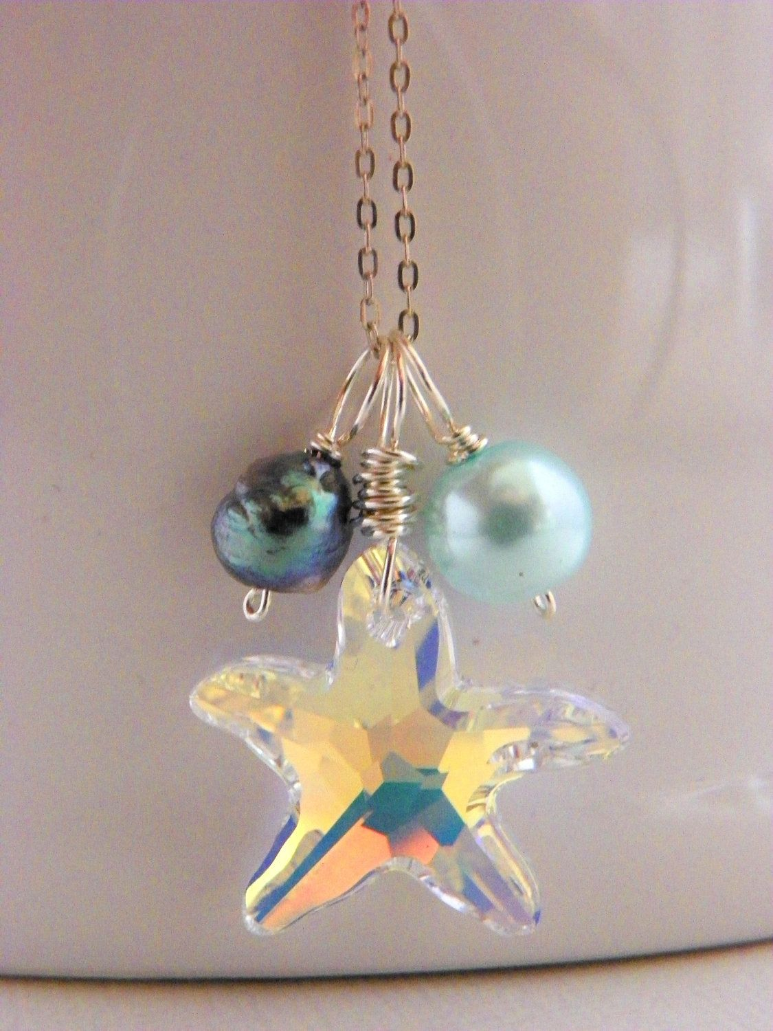 Clear swarovski starfish necklace by estylo jewelry starfish clear swarovski starfish necklace by estylo jewelry aloadofball Gallery