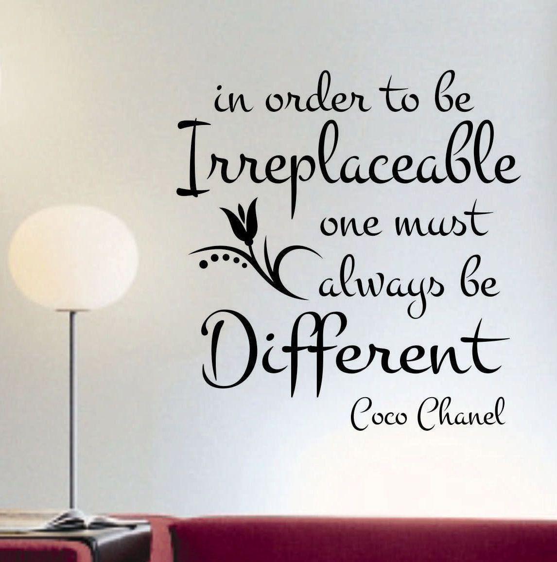 irreplaceable be different quote vinyl lettering wall decals irreplaceable be different quote vinyl lettering wall decals