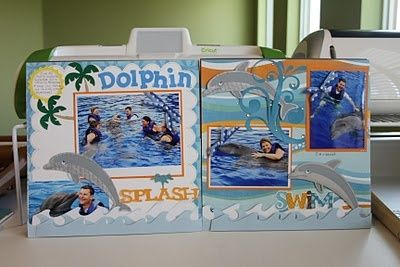 dolphin scrapbook-layouts