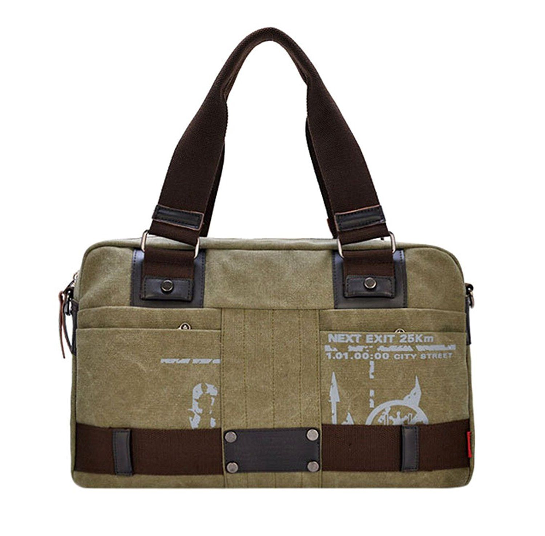 KISS GOLD(TM) Men's Leisure Canvas Cross-body Bag, Messenger Bag ,Top-handle Bag, Scrawl Pattern ** Click image for more details.