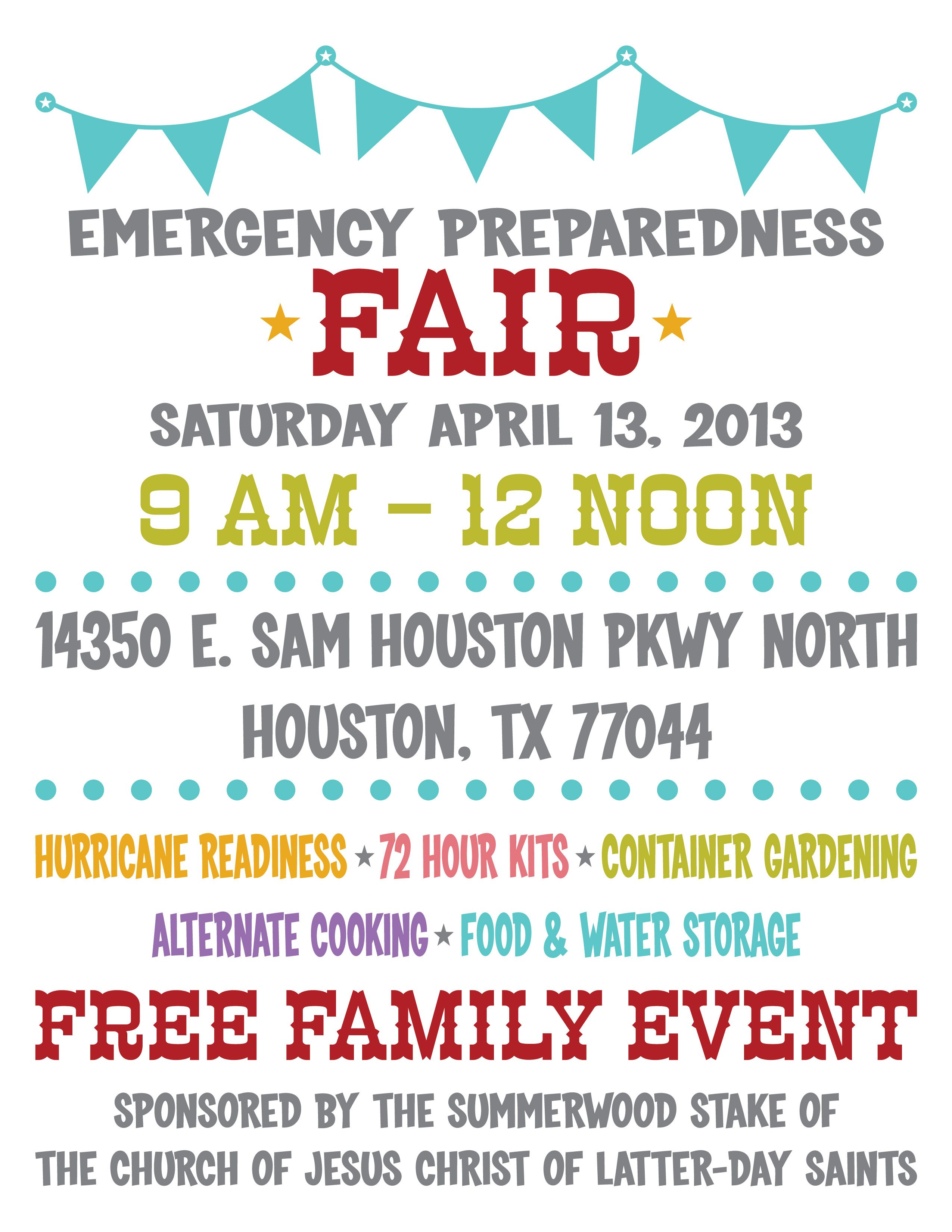 Emergency Preparedness Fair Prepared Housewives Relief