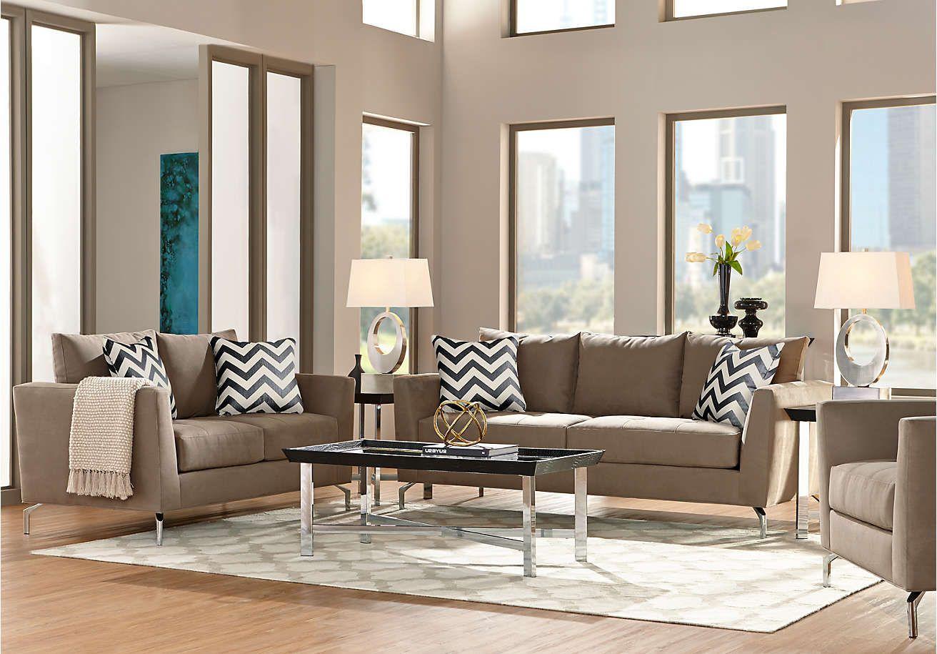 Sofia Vergara Carinthia Mineral 7 Pc Living Room - Living Room Sets ...