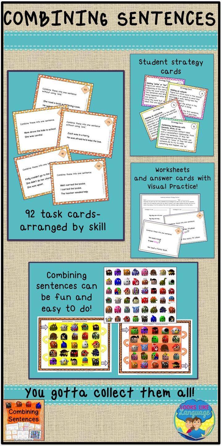 Combining Sentences   Transition Words Worksheets   Compound Complex  Sentences   Combining sentences [ 1439 x 718 Pixel ]