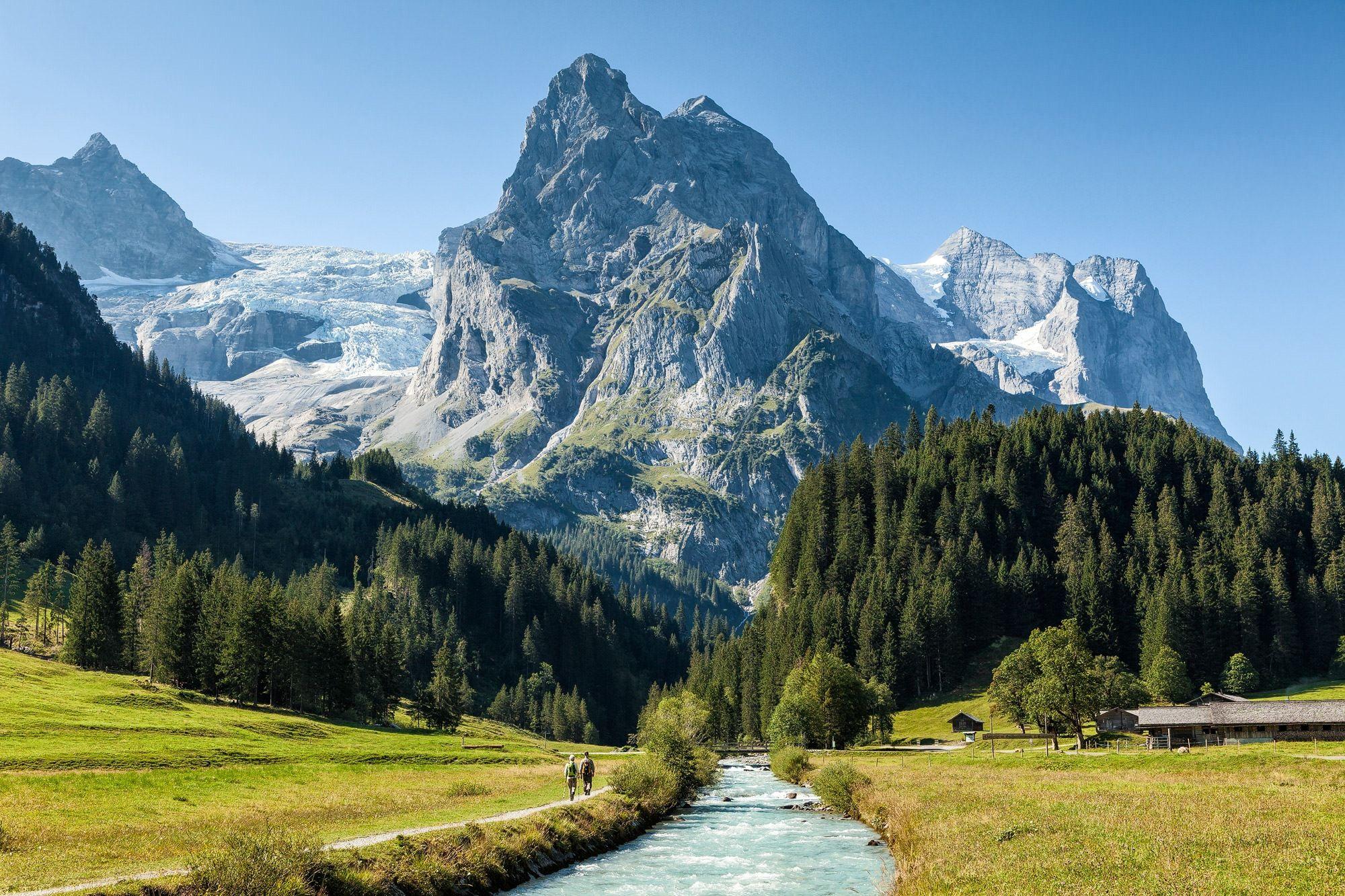 Reichenbachtal, Berner Oberland, Schweiz Reichenbachtal