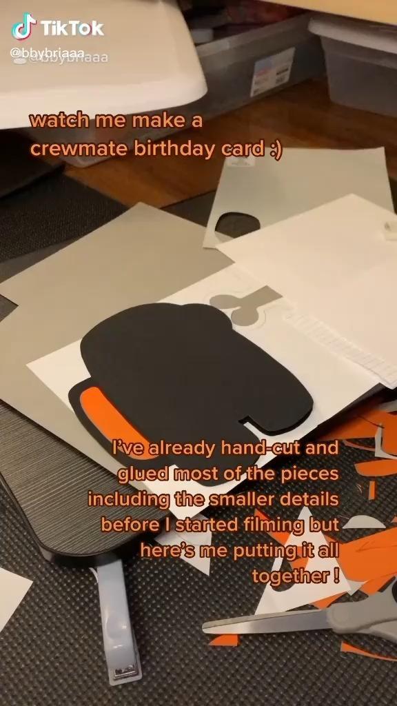Among Us Birthday Card Video Paper Crafts Diy Tutorials Easy Diy Art Fun Diy Crafts