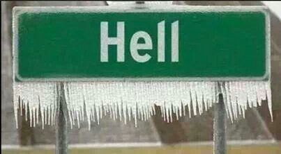 Oh No...it has frozen over!!! Think of all the things that must happen now!!! = O