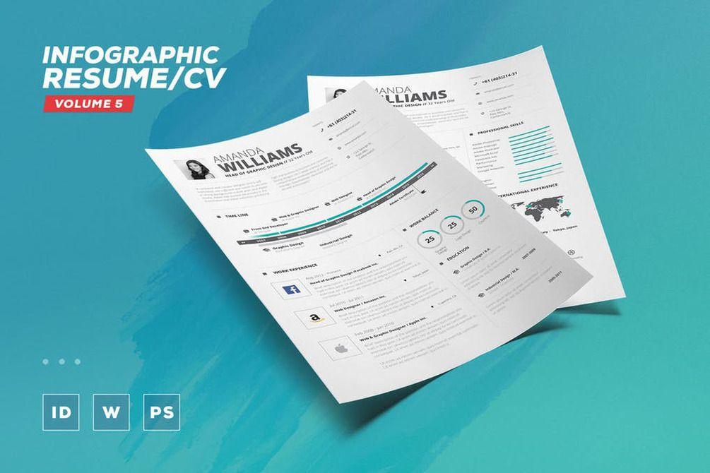 Gumroad Infographic Resume Cv Volume 5 Infographic Resume Infographic Resume Cv