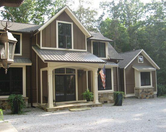 exterior paint: dark brown natural colors | ... Exterior Design In ...
