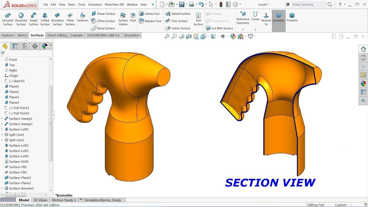 Solidworks Surface Tutorial For Beginners Youtube Solidworks Solidworks Tutorial Tutorial