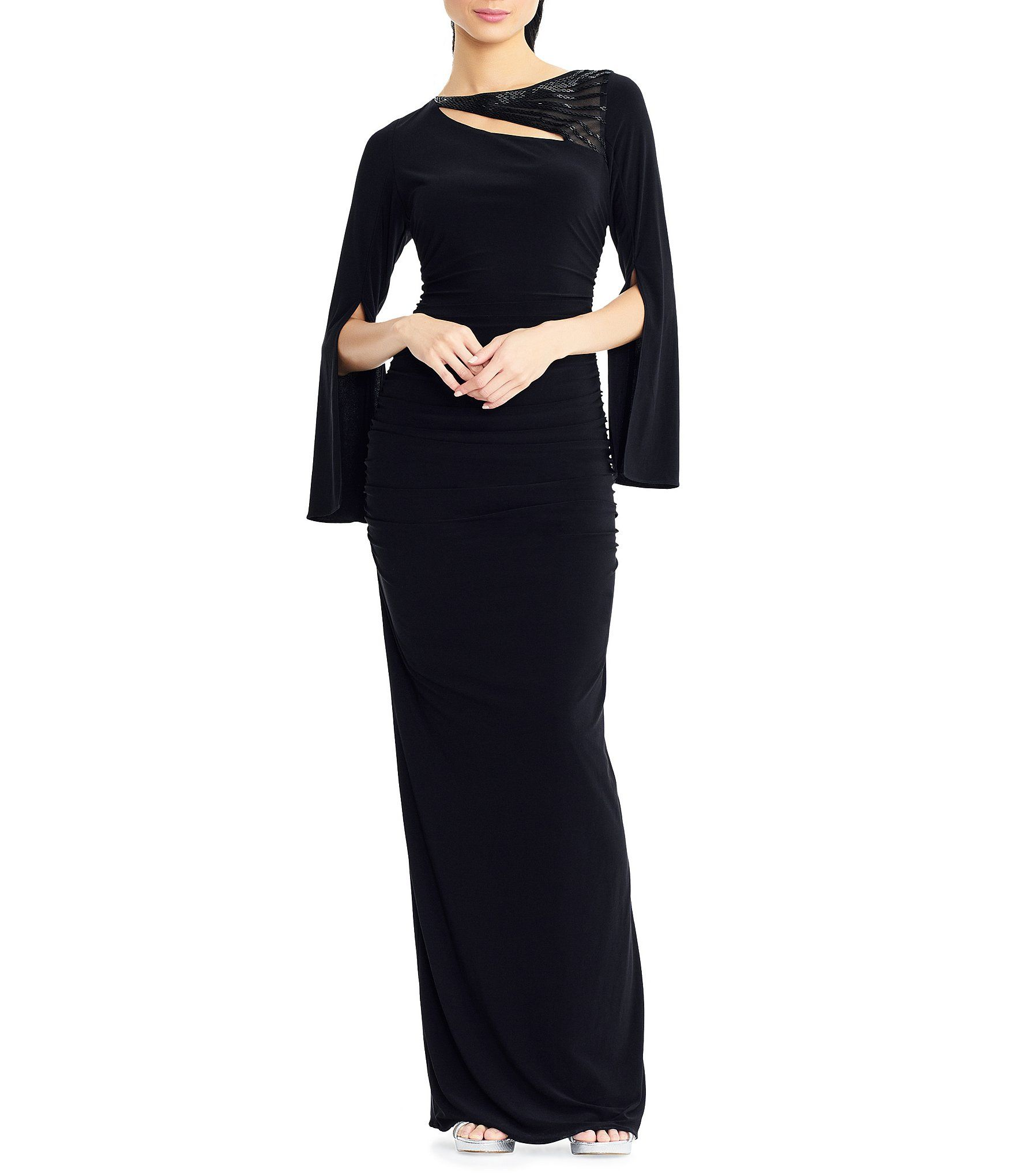 524d8b52648 Shop for Adrianna Papell Petite Size Beaded Split Long Sleeve Matte Jersey  Gown at Dillards.com. Visit Dillards.com to find clothing