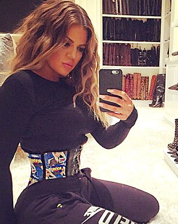 Apparently Khloe Kardashian isn't going to quit on her fitness routine until she mirrors Jessica Rabbit. In a new selfie posted via Instagram on Tuesday, Feb. 24, the reality star's waist looks more narrow than ever before.