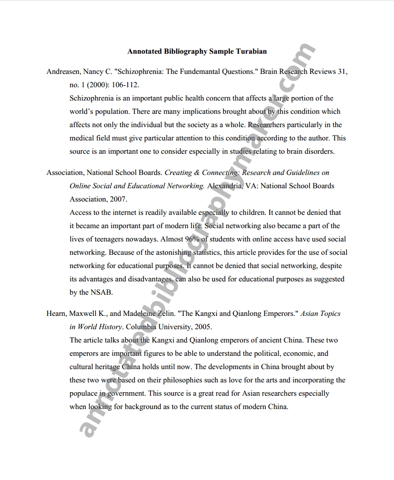 examples of annotated bibliography apa - Google Search | College ...