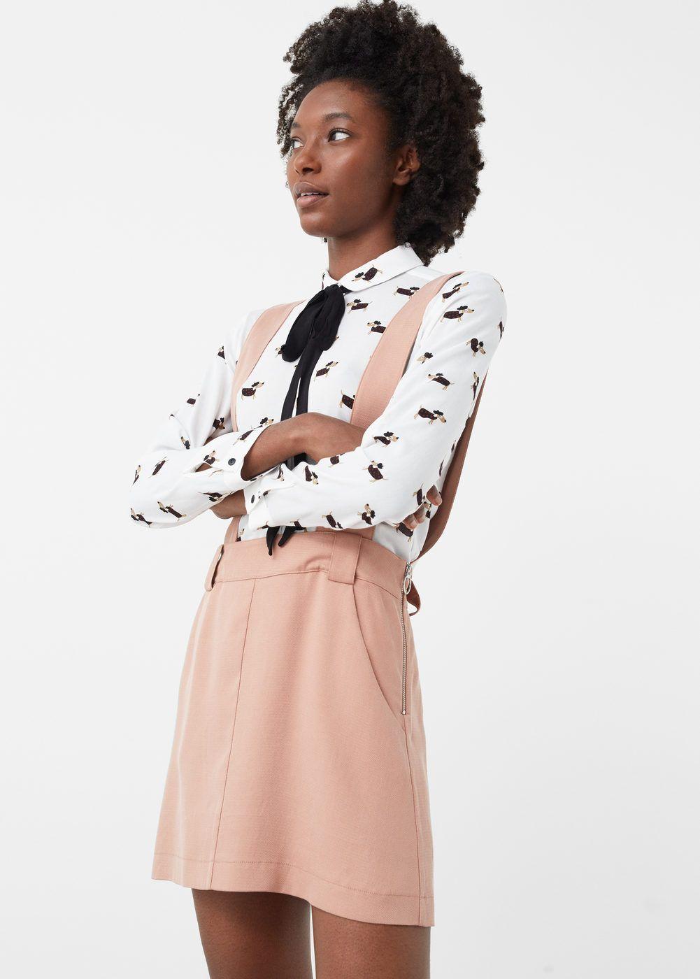 Pockets pinafore dress - Women | Pinterest | Latzrock, Mango und Für ...