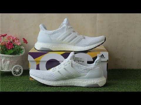 92bdcdcfb91244 Adidas Ultra Boost 4.0  triple White  Real Boost BB6168 hd review ...
