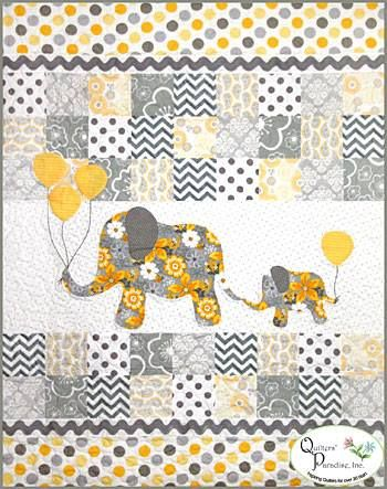 Fan friday gray matters quilt from quilters paradise for Childrens elephant fabric