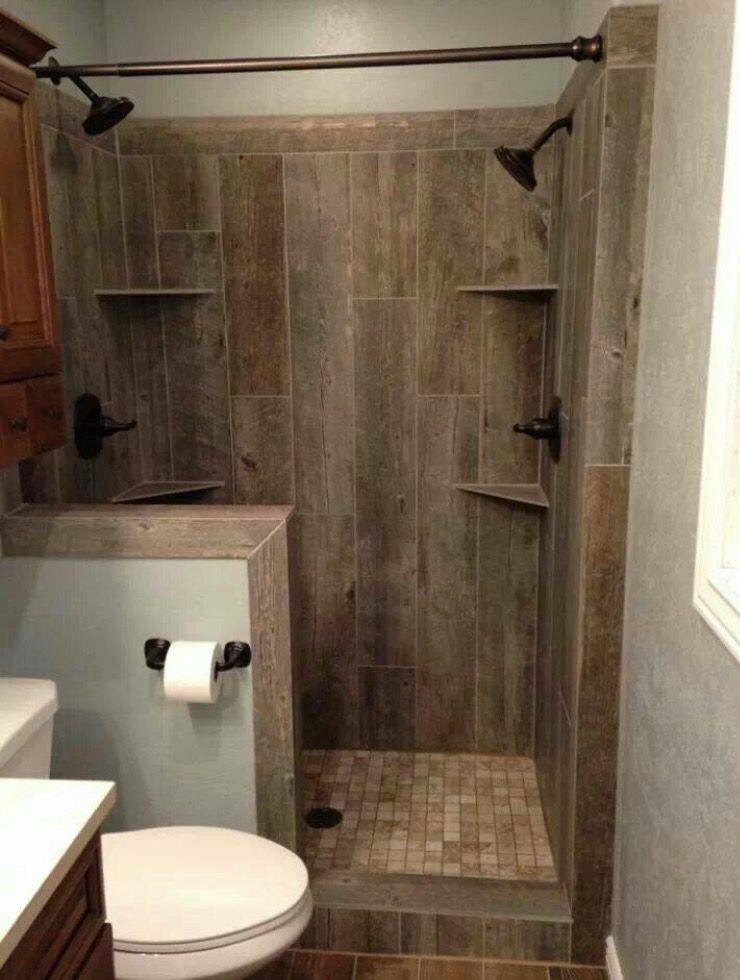 double shower in small bathroom bathrooms bathroom tiles shower rh pinterest com shower stalls in small bathrooms Shower for Narrow Bathroom Design