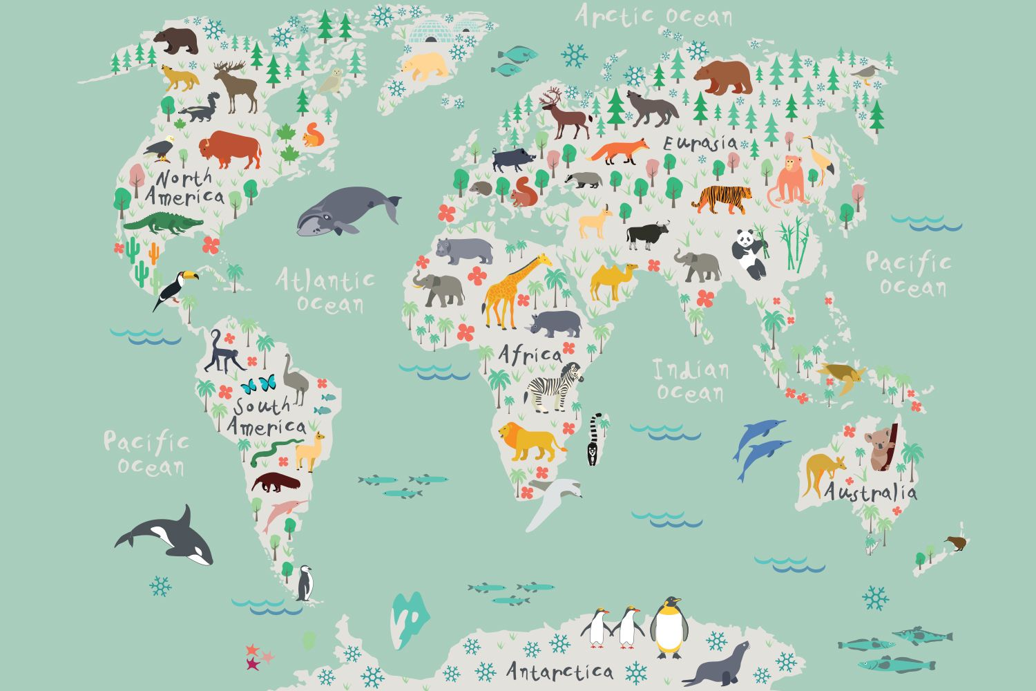 Safari kids map mural wallpaper kamer nathan pinterest safari kids map mural wallpaper childrens room think it may be too busy for us but really love the rifle esque map gumiabroncs Choice Image