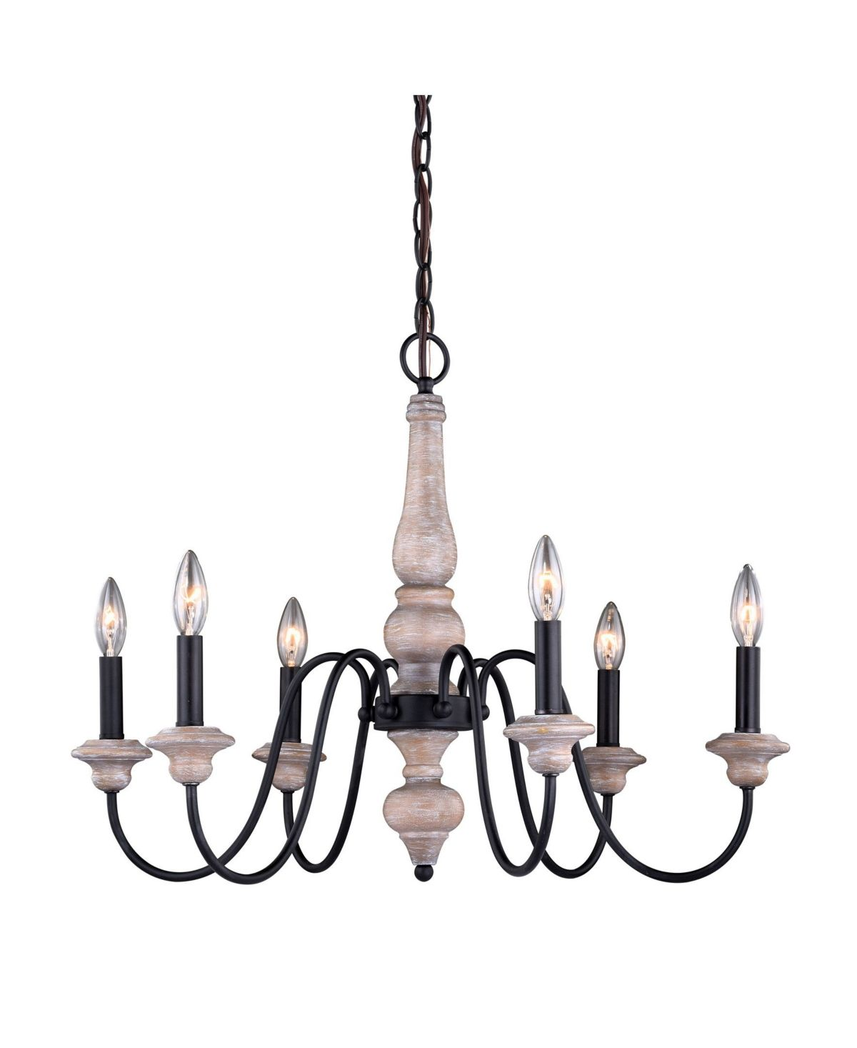 Vaxcel Georgetown Wood And Farmhouse 6 Light Chandelier Reviews Home Macy S Vaxcel Chandelier Lighting Chandelier