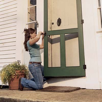 Build Your Own Screen Door   Step By Step Instructions, From A Kit