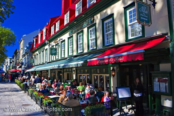 Picturesque View Of Outside Cafes Place D Armes Old Quebec