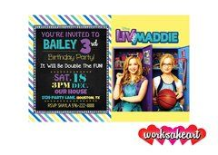 personalized liv and maddie birthday party invitations, Party invitations