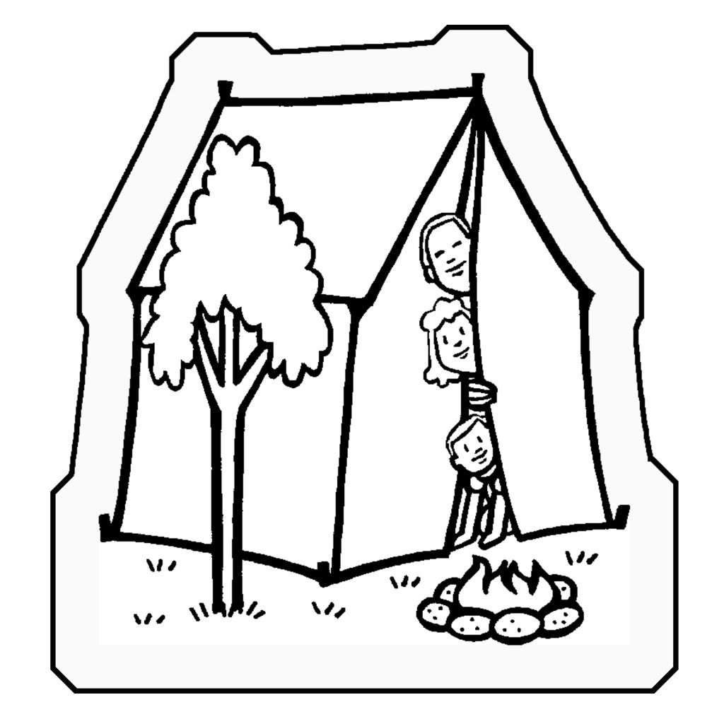 Images For > Camping Coloring Pages For Preschool | ECE - Misc. Arts ...