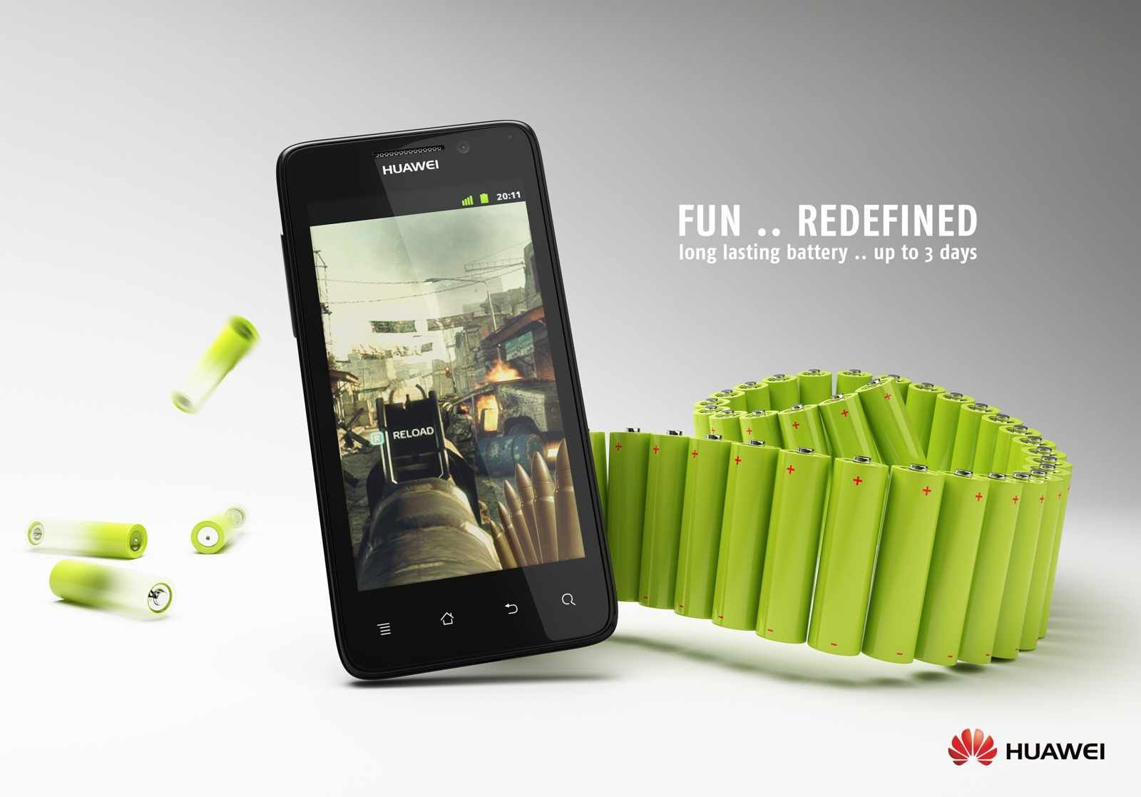 Huawei Fun redefined Print ads, Phone, Mobile marketing