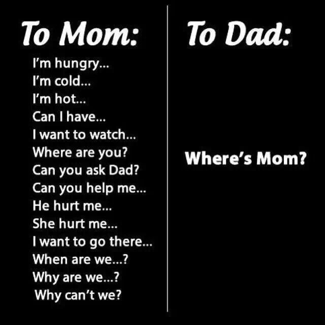 Mom and dad humor.