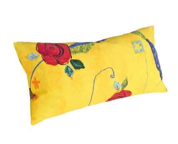 Yellow Throw Pillows Colorful Bright Decorative Lumbar