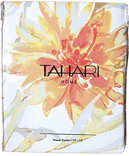 Tahari Luxury Cotton Blend Shower Curtain Printemps Floral Branches ...