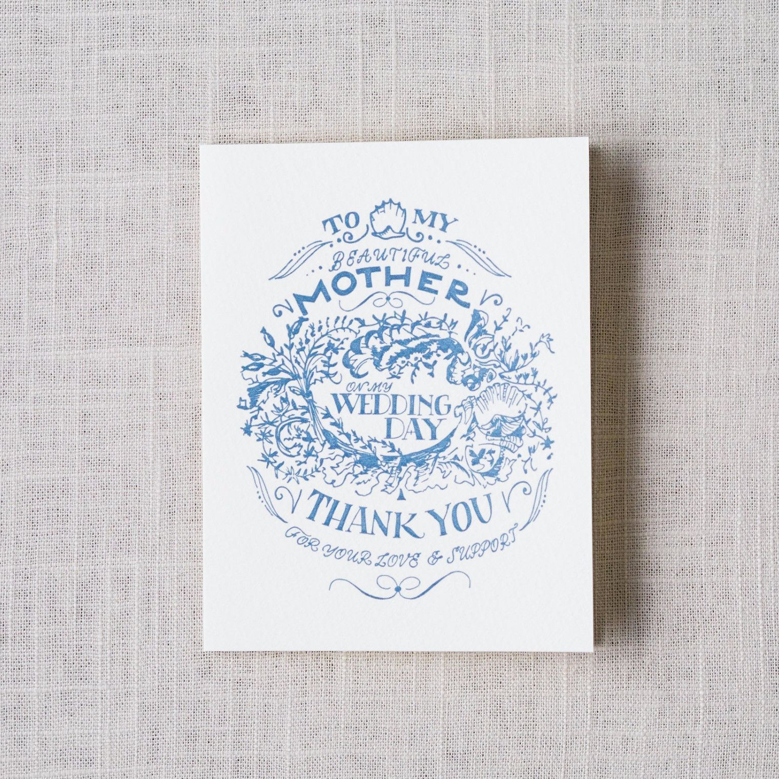 For My Mother Wedding Day Card | Products