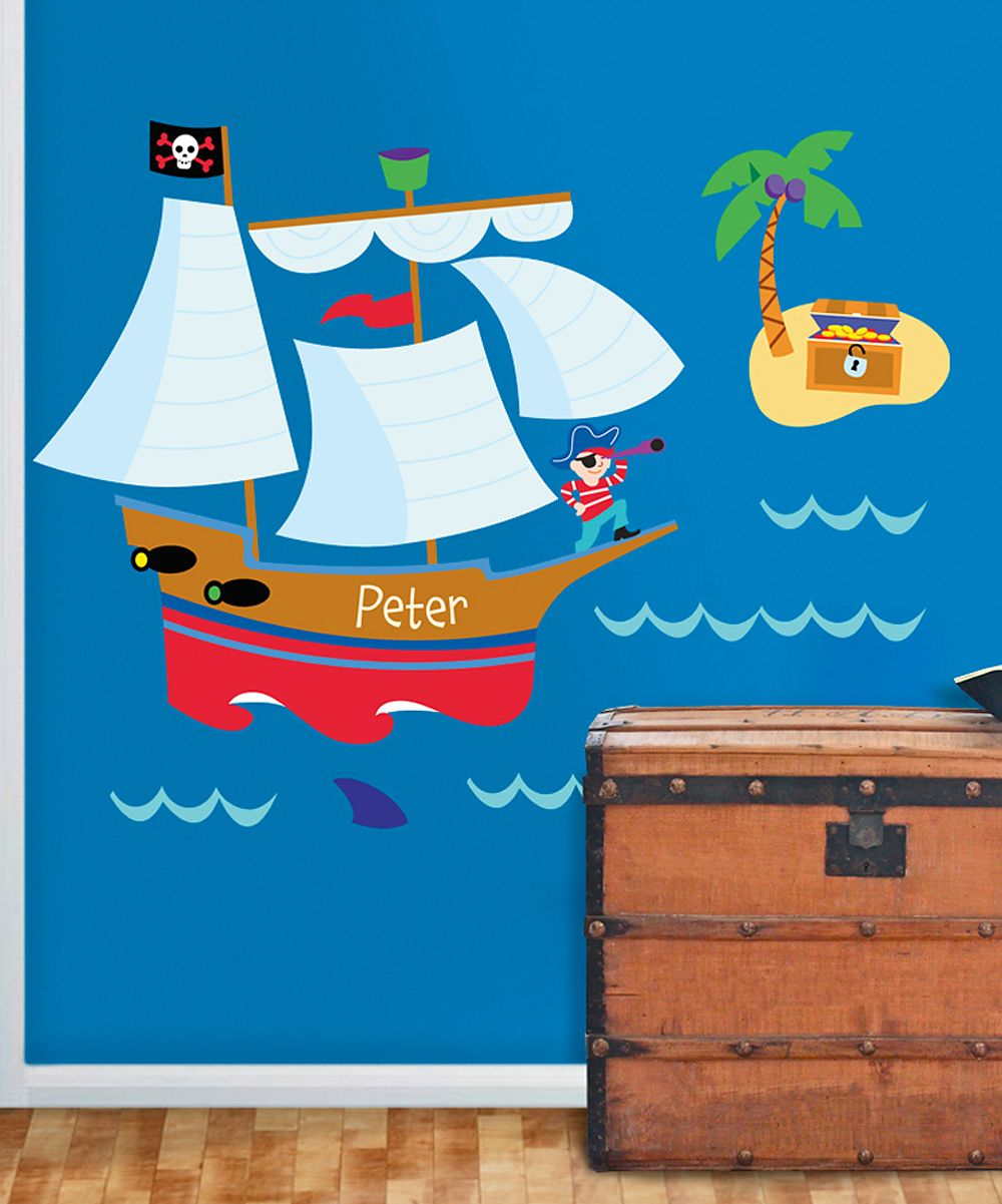 Pirate personalized wall mural murals for kids pinterest pirate personalized wall mural amipublicfo Images