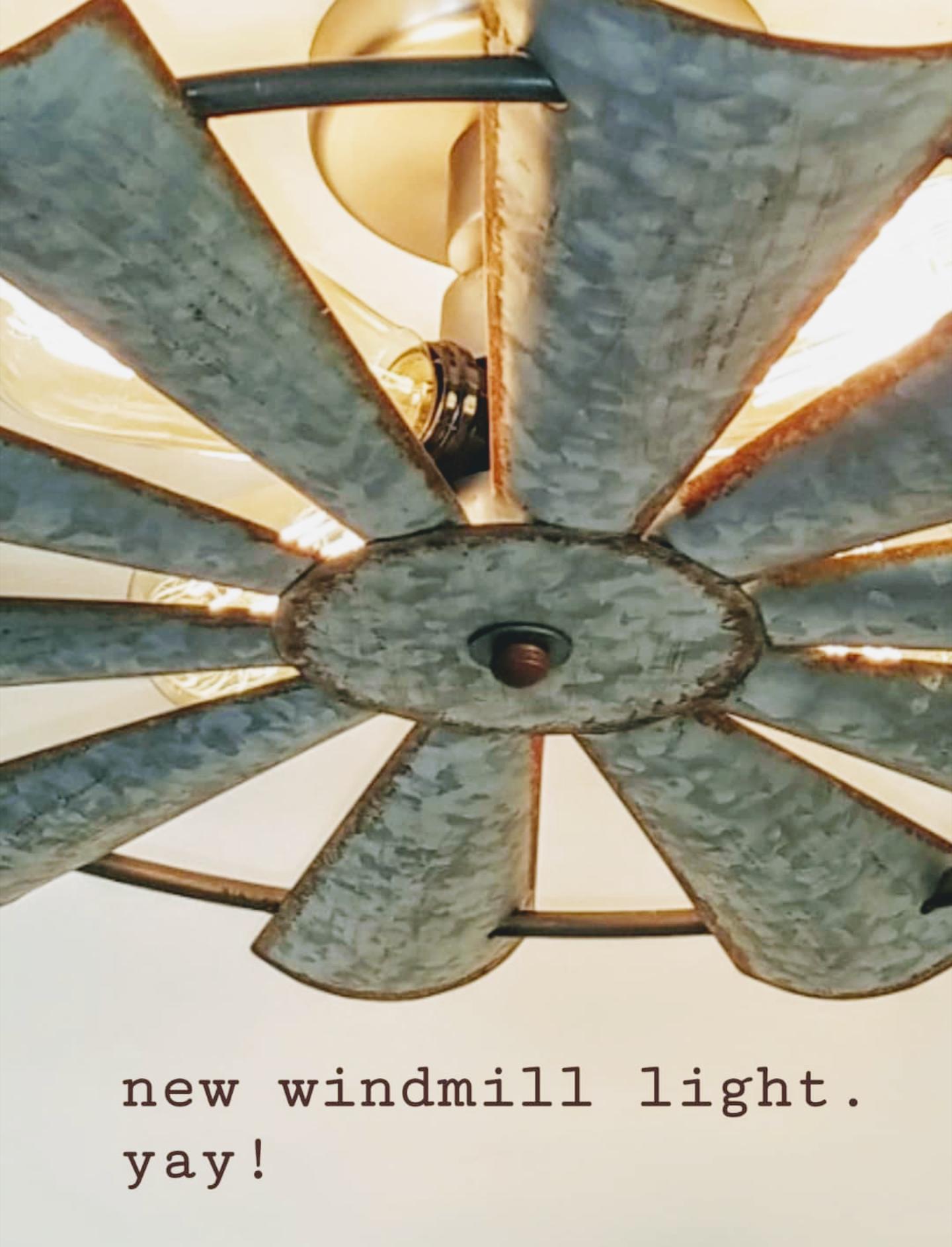Galvanized Windmill Ceiling Light In 2020 Ceiling Lights Metal Windmill Windmill