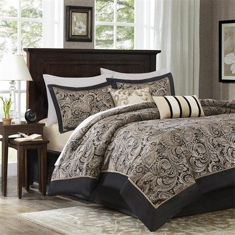 Madison Park Aubrey 5 Piece Comforter Set Black FullQueen >>> Learn more by visiting the image link.