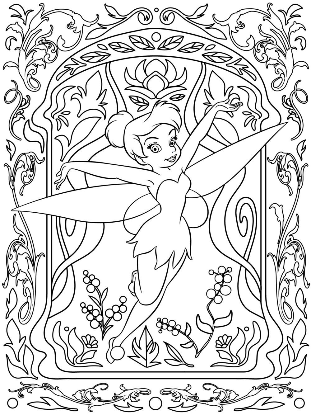 Adult colouring page adultcolouring Disney coloring