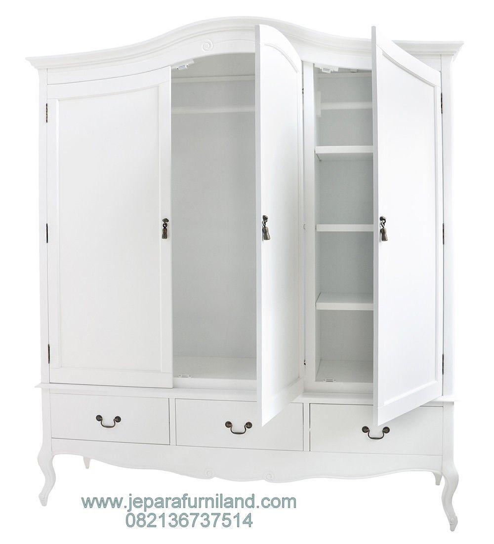 Jual Lemari Pakaian Klasik Duco Putih 3 Pintu Terbaru Harga Lemari Pakaian Duco Lemari Pakaian Lemari Pintu Almari Harga lemari 3 pintu