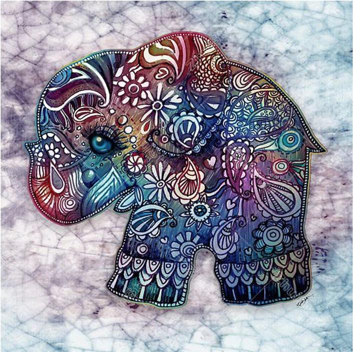 Vintage Elephant DIY 5D Diamond Painting Full Drill