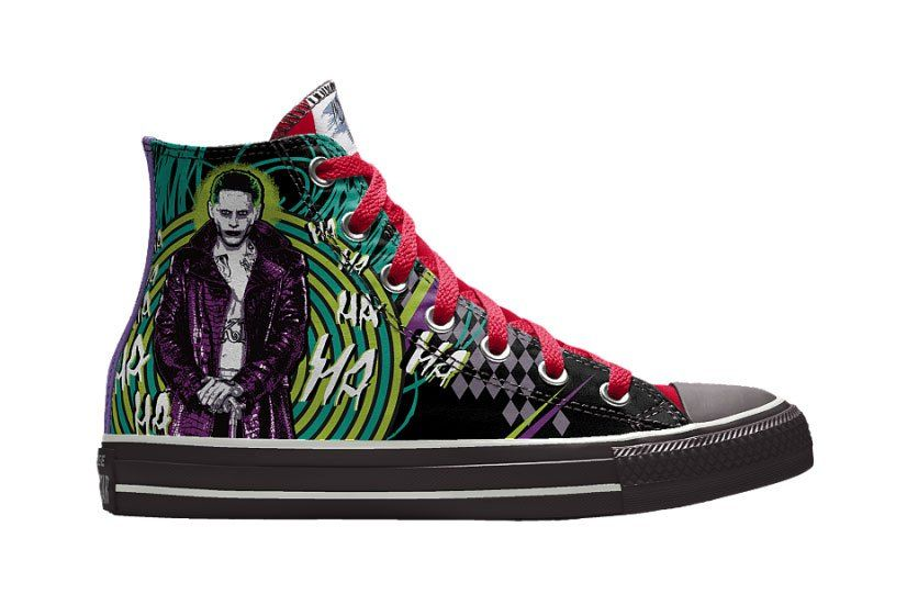 9a652f54531f1c Customize Your Converse Kicks With  Suicide Squad  Illustrations on NIKEiD