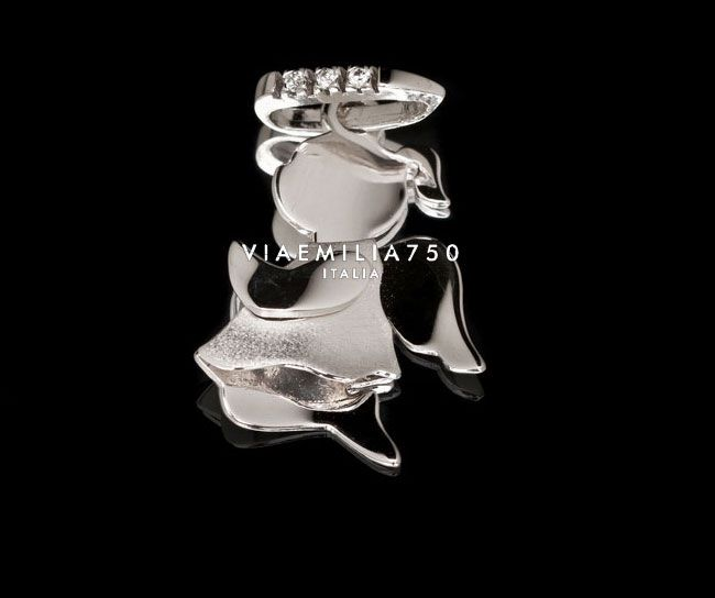 White gold pendant and brilliant diamonds 0.025ct 4.30g