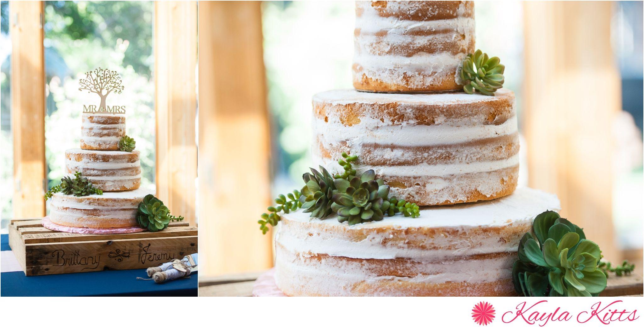 naked cake - casa de suenos-albuquerque-outdoor-wedding-new mexico-bridal gown-demetrios-kayla kitts photography-albuquerque wedding photographer