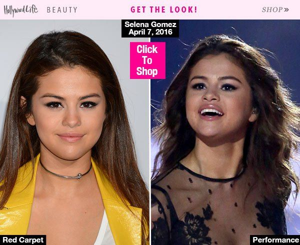 Selena Gomez looked gorgeous at the WE Day benefit concert in L.A. on April 7. Get her two sexy hair looks below!