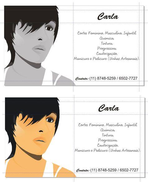 Cartão de visita – Carla (Software – CorelDraw)